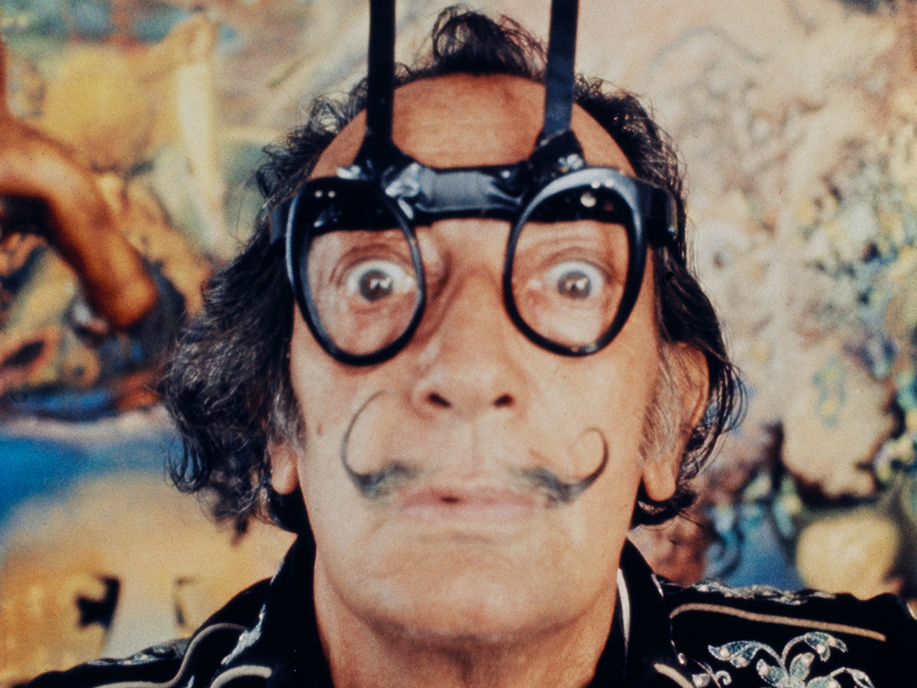 a picture of Salvador Dalí by Robert Whitaker